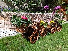 Bagger mit Korb-Schaufel + Hänger braun 80 + 80 cm XXL, aus Korbgeflecht, Korbruten wetterfest**, pfiffige GARTENDEKO, ideal als Pflanzkasten, Blumenkasten, Pflanzhilfe, Pflanzcontainer, Pflanztröge, Pflanzschale, Rattan, Weidenkorb, Pflanzkorb, Blumentöpfe, Holzschubkarre, Pflanztrog, Pflanzgefäß, Pflanzschale, Blumentopf, Pflanzkasten, Übertopf, Übertöpfe, , Holzhaus Pflanzgefäß, Pflanztöpfe Pflanzkübel
