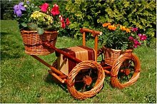 Bagger, Traktor aus Korbgeflecht, 80cm, Rattan,