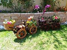 Bagger,Traktor+Hänger braun 60 + 60 cm XXL, aus Korbgeflecht, Korbruten wetterfest**, pfiffige GARTENDEKO, ideal als Pflanzkasten, Blumenkasten, Pflanzhilfe, Pflanzcontainer, Pflanztröge, Pflanzschale, Rattan, Weidenkorb, Pflanzkorb, Blumentöpfe, Holzschubkarre, Pflanztrog, Pflanzgefäß, Pflanzschale, Blumentopf, Pflanzkasten, Übertopf, Übertöpfe, , Holzhaus Pflanzgefäß, Pflanztöpfe Pflanzkübel