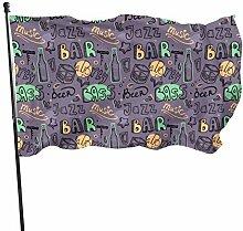 BAGR Jazz Bar Garten Flagge, Dekoration für