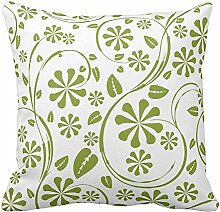 Bags-Online Flower Leaf Printed Green and White