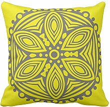 Bags-Online Yellow and Gray Art Design Pattern