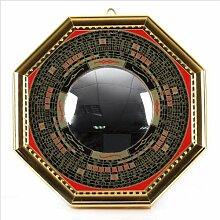 Bagua Luo Board konvex Spiegel Rückseite: