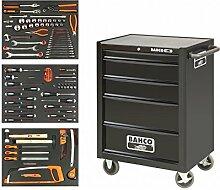Bahco bah1470bl 5Schubladen Werkzeugwagen mit Inlays und–Werkzeuge–Orange