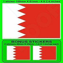 BAHRAIN Bahraini Flagge Arabisch 100mm Auto &