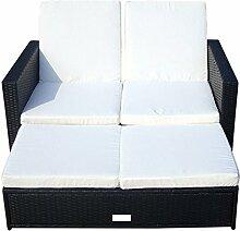 Baidani Multifunktionale Rattan Doppelliege/Sofa