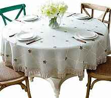 BAIF Runde Tischdecken Cotton Linen Wachstuch
