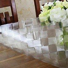 BAIF Wasserdichte PVC-Tischdecke Kunststoff Tee