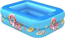 BAIHAO Rechteck Aufblasbarer Pool Baby