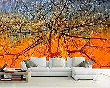 BAIJJ Tapete 3D Abstrakt Baum Ölgemälde Farbe