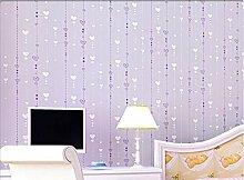 Baikoushuo Moderne Tapete in Herzform Kinderzimmer