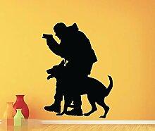 BailongXiao Neu bei Polizei Hund Wandtattoo