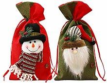bainuote 2pcs Nikolaussack Weihnachtsmann