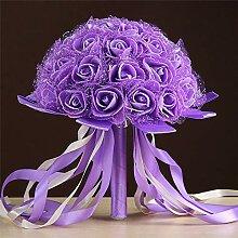 Baipin Hochzeit Bouquet Brautstrauß Künstliche