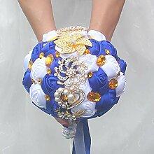 Baipin Künstliche Rose Blumen Brautstrauss Blumen