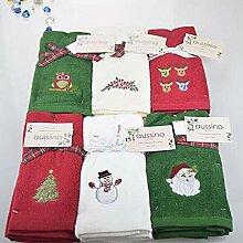 BaiRun Dekoratives Handtuch Set Weihnachten