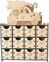 Baiyao Weihnachten Holz Adventskalender Box, DIY