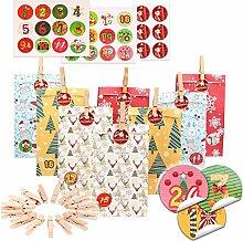 Baiyao Weihnachts-Adventskalender Taschen zum