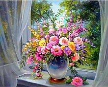 BAIYUDE 5d DIY Diamant Stickerei Blumen auf der