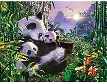 BAIYUDE Tier Panda Hot Diamond Stickerei Diamant