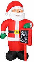 BAKAJI Aufblasbarer Weihnachtsmann mit