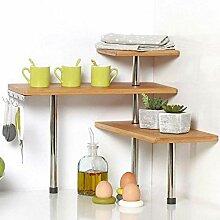 BAKAJI Eckregal für Küche, 3 Etagen,
