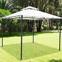 BAKAJI Gartenpavillon 3x 3mt Struktur aus