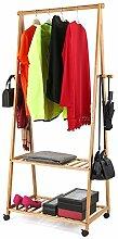 BAKAJI Kleiderständer aus Bambu für Schlafzimmer