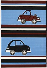 Bakero Kids Cars blau, polyamid, 170 x 120 x 0,6 cm