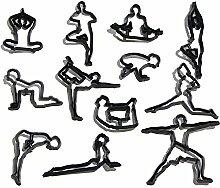Bakeware 12st / Set Yoga Figuren Silhouette