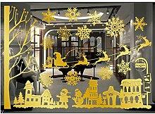 Bakicey Fensterbilder Weihnachtsdeko Merry