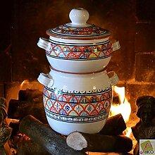 Bakir Royal Couscous-Kochtopf, groß, Orange