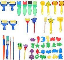 balacoo 1 Set Kinder Malen Pinsel Set 47Pcs