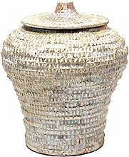 Balcosta Vorratsdose, Keramik, Gold Antik, 33x