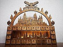 Baldauf Laser Art Holz Adventskranz Hogwarts aus