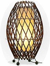 Bali asiatische Lampe Deko-Leuchte aus Rattan &