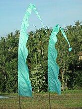 Bali-Fahne, türkis mit Welle 6 Meter