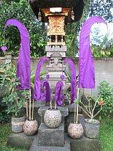 Bali-Fahne, violett, 200cm inkl. Stock