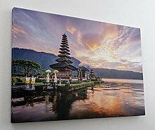 Bali Indonesien Sonnenuntergang Leinwand Bild