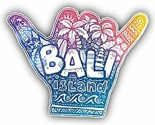Bali Island Hand Indonesia - Self-Adhesive Sticker