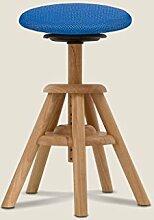 Balimo Wood Naturholz Bürohocker Rücken-Trainer Sitzhocker (Blau)