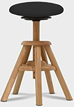 Balimo Wood Naturholz Bürohocker Rücken-Trainer Sitzhocker (Schwarz)
