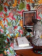balinesische Tapete, tropische Tapete, Vintage