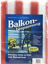 Balkon Bespannung Sichtschutz Terrakotta/Weiß