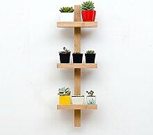 Balkon Blumenregal / Wand hängende Zahnstange / Wohnzimmer Fensterbank hängende Pflanze Rack ( größe : 25*17*78cm )