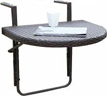 Balkon-Hängetisch, klappbarer Tisch für's