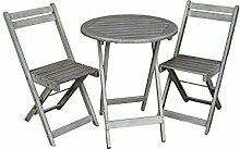 Balkon Möbel Set | Bistrotisch mit 2 Stühlen |