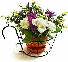 Balkon Multi-Funktionelle weiß Fensterbank Reling zum Aufhängen Orchideen wenigen europäischen–Stil Eisen Blume Rack A +
