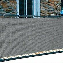 Balkon Sichtschutz 5m Windschutz 2 Farben Lärmschutz Terrasse Gartenzaun Schutz (grau)