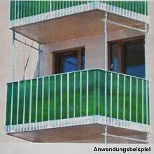 Balkon Sichtschutz 5x1,8m grün Windschutz